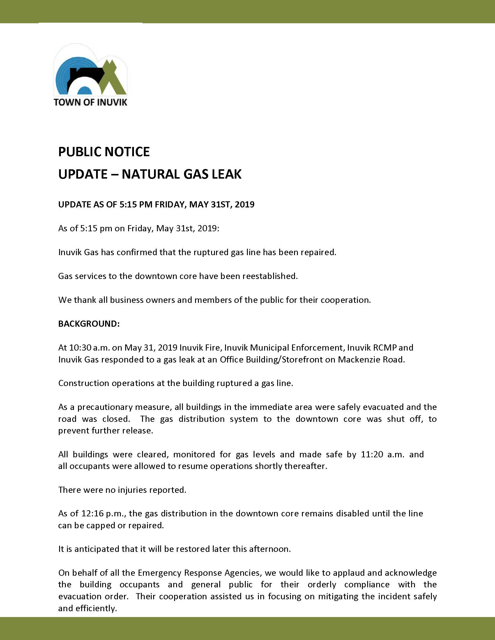 Public Notice May 31 2019 5 15 pm