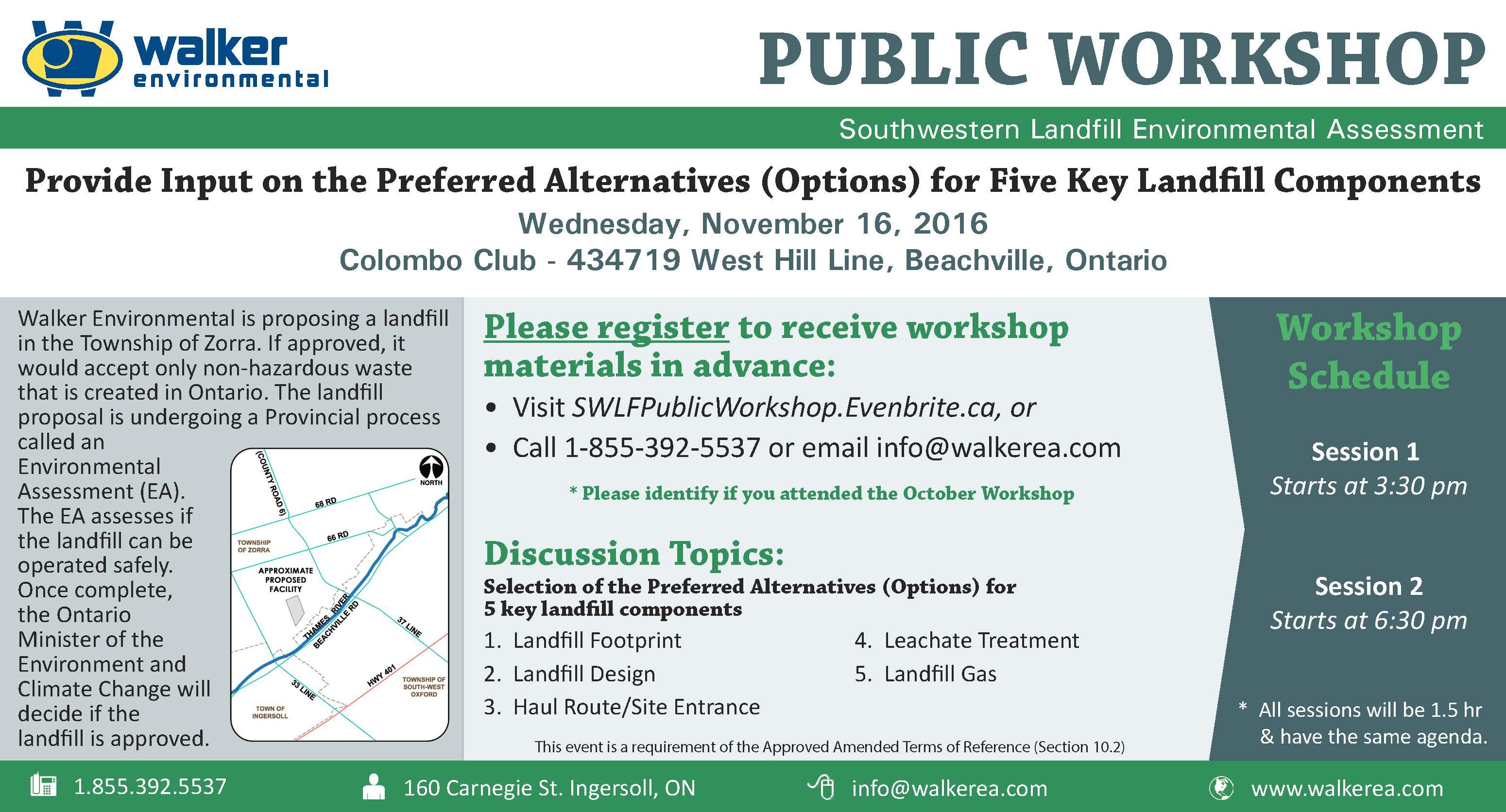 Advertisement for November 16, 2016 Public Workshop