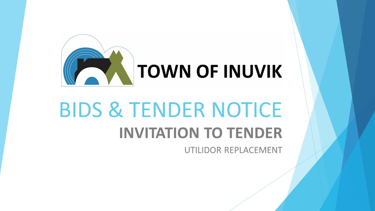 BIDS & TENDER NOTICE - UTILIDOR REPLACEMENT - fb & web cover photo