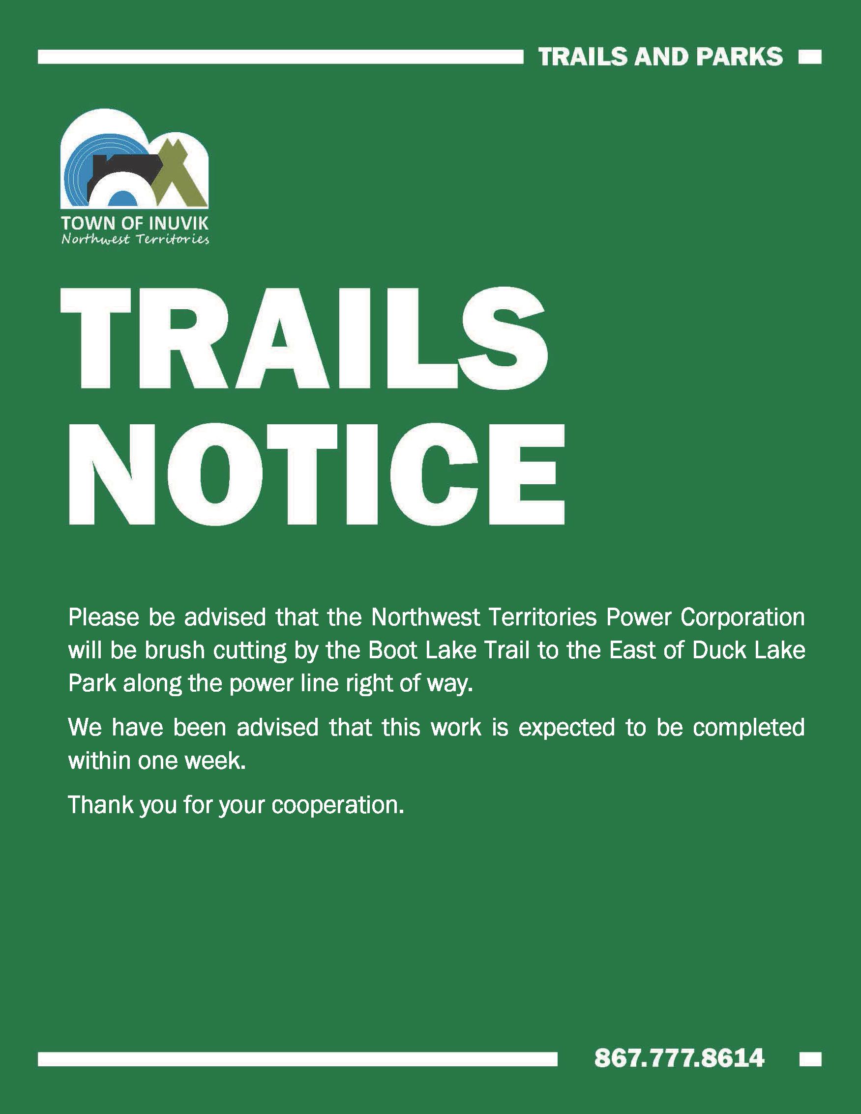 Brush Cutting - Boot Lake Trail - January 16 2020