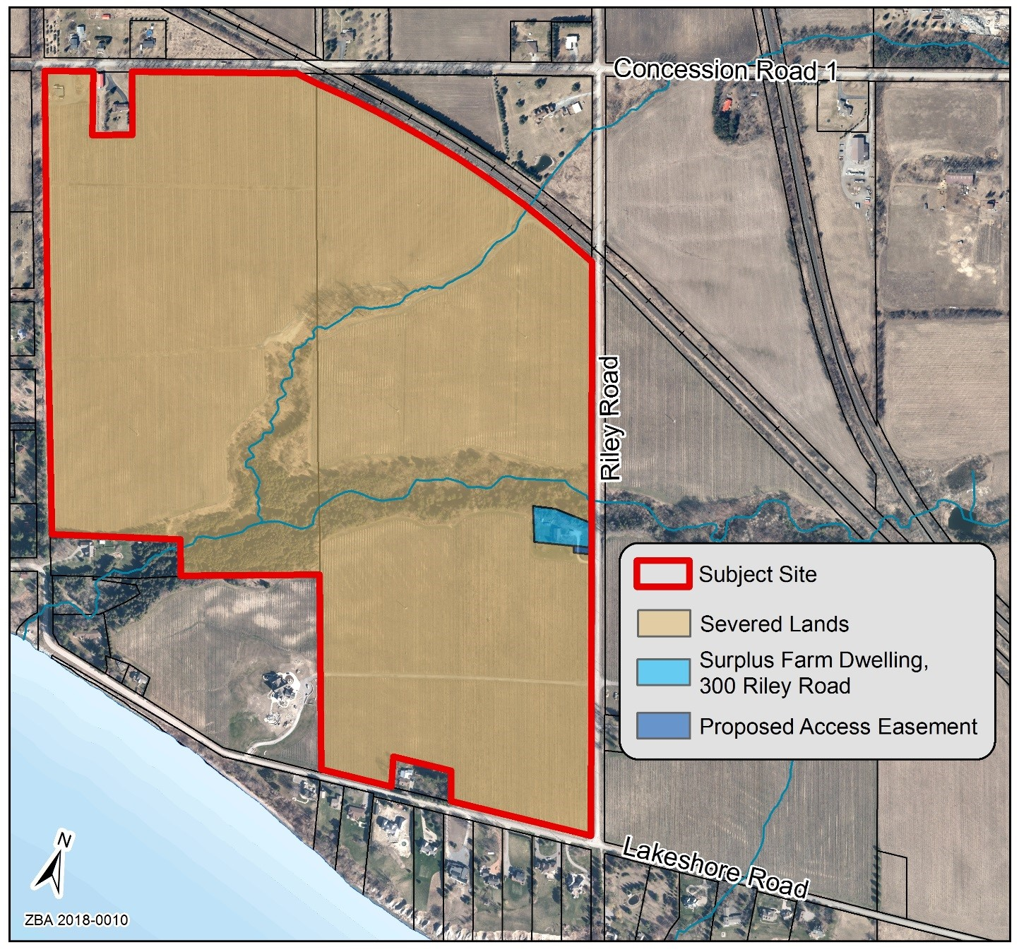 Map of subject site