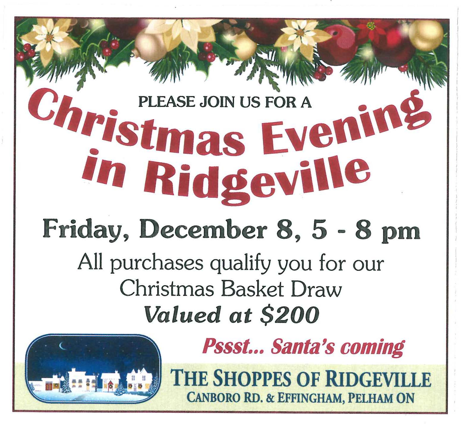 Christmas Evening in Ridgeville