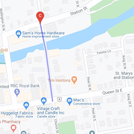 Detail of Church Street closure
