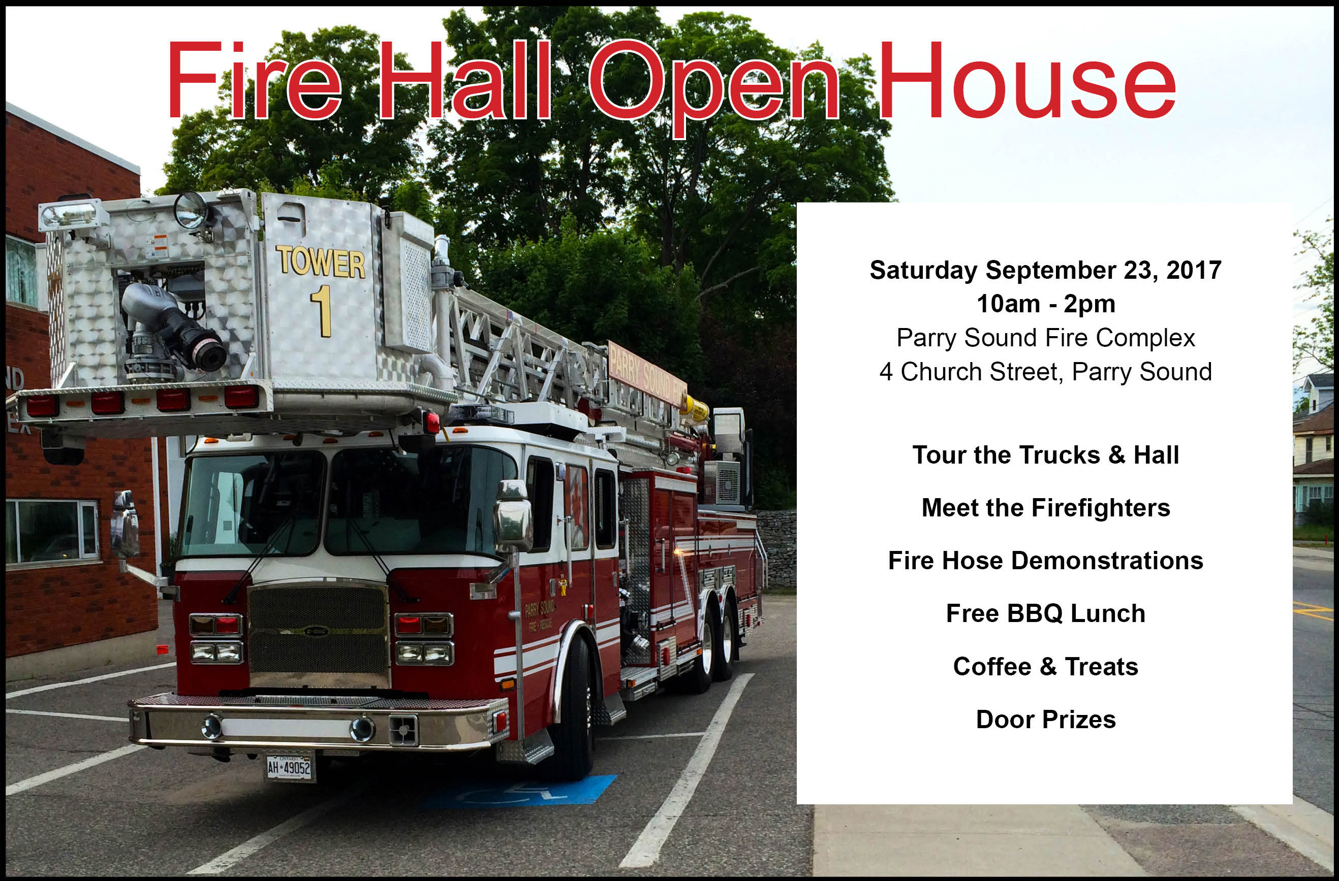 Event Poster - Fire Hall Open House