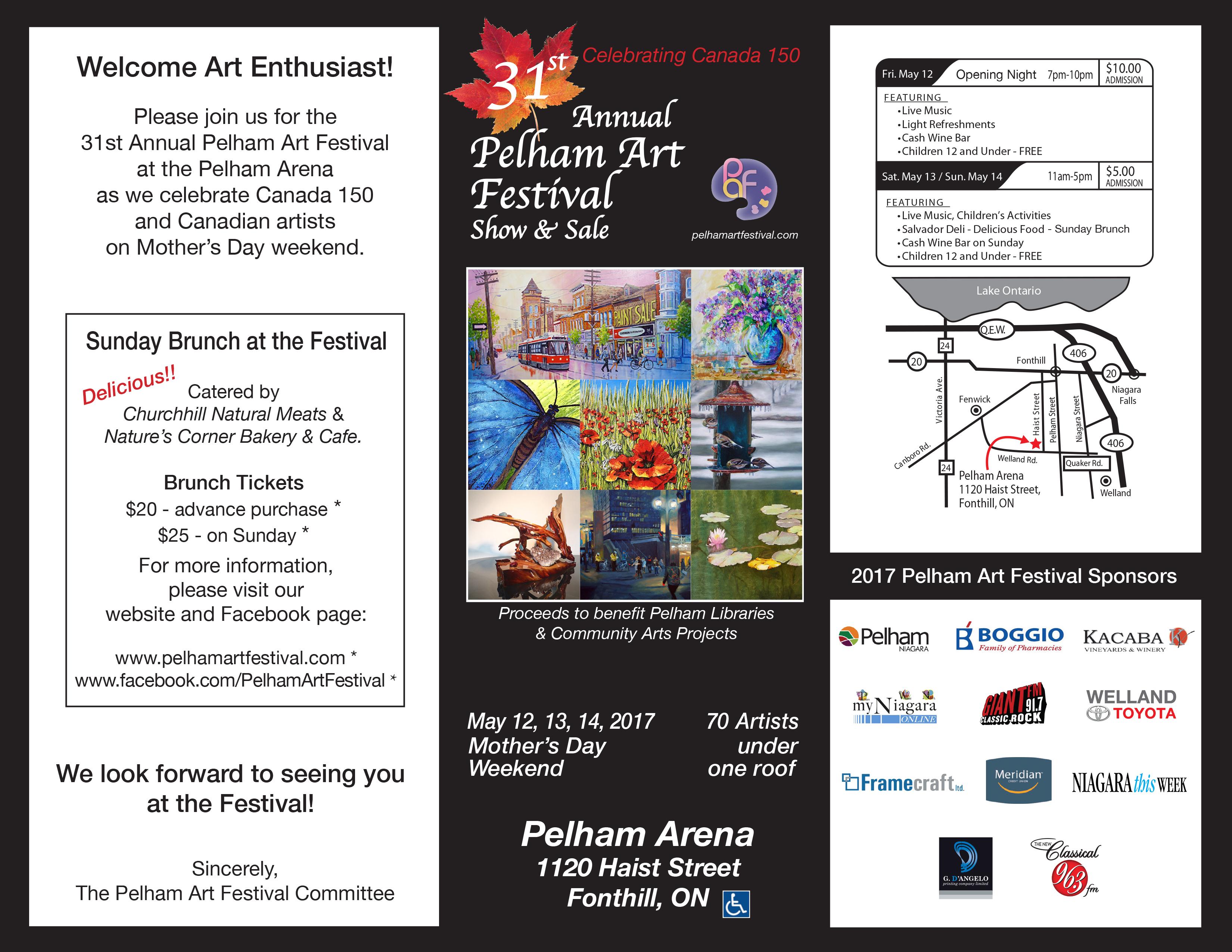 Invitation to the 2017 Pelham Art Festival