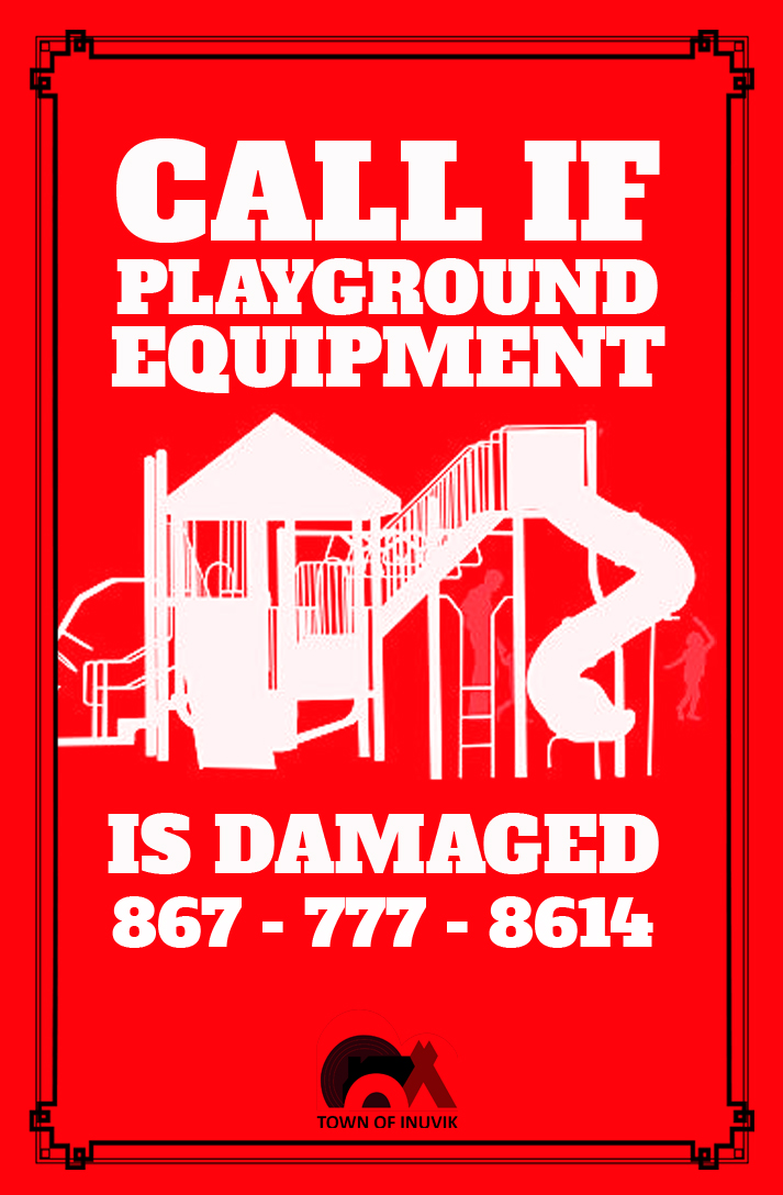 Public Notice Call If Playground Equipment Is Damaged