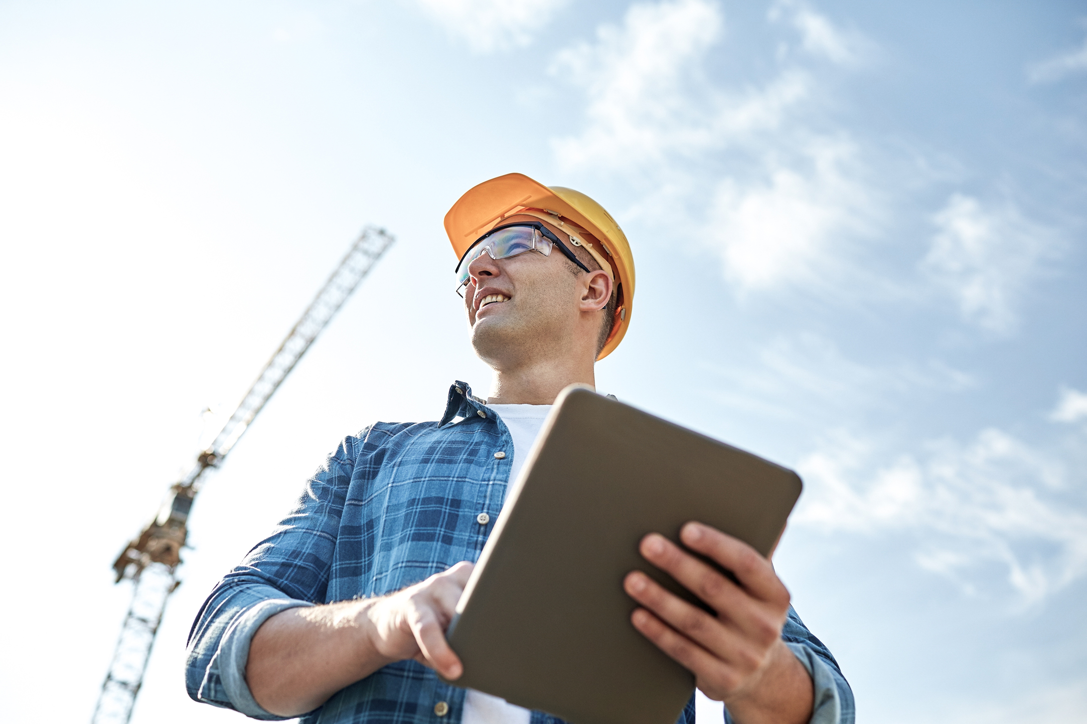 A builder conveniently accesses all of his documents online.