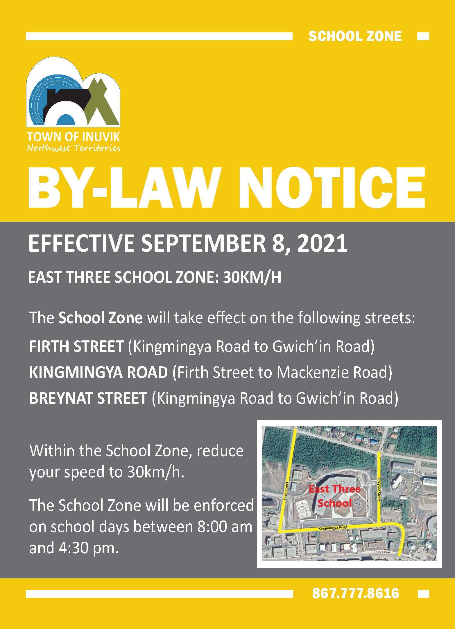 Public Notice - School Zone
