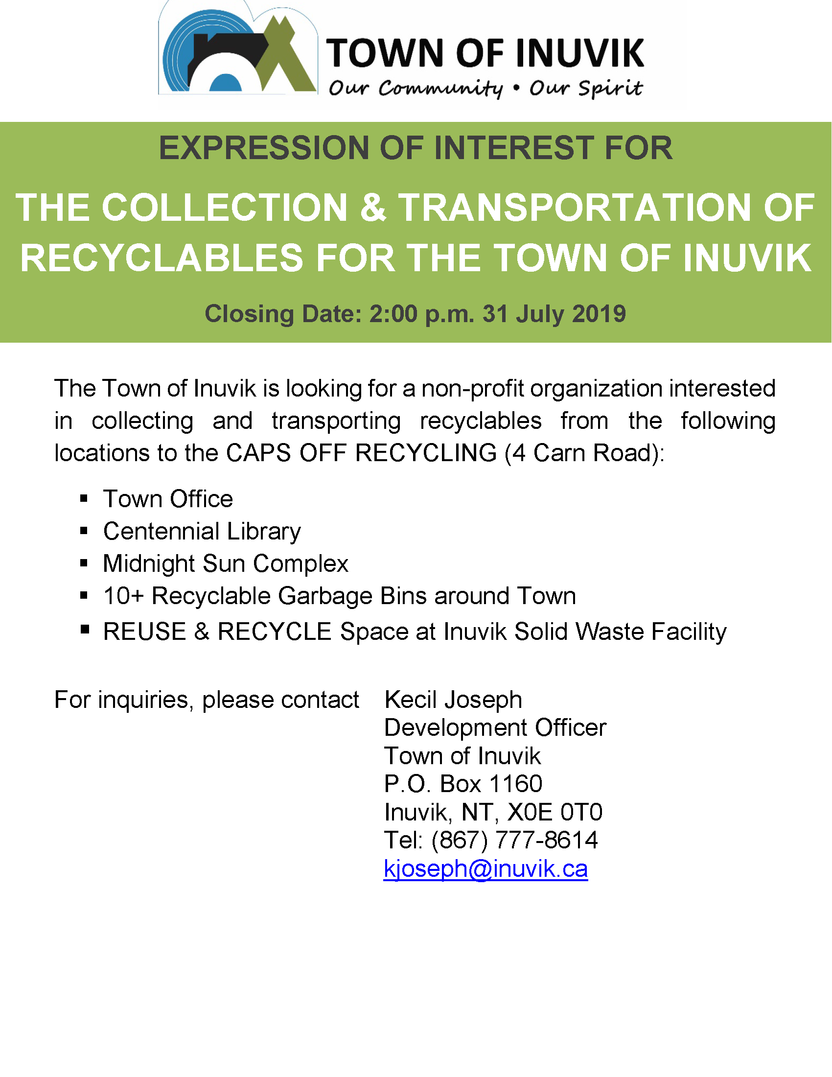 EOI - Recyclables Collection