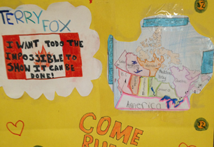 Poster saying Run for Terry Fox