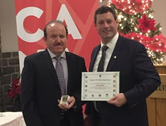 Councillor Willis Canada 150 Award